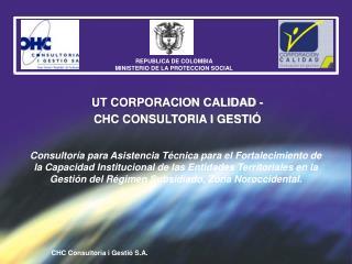 Consultor a para Asistencia T cnica para el Fortalecimiento de la Capacidad Institucional de las Entidades Territoriales