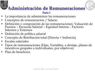 Administraci n de Remuneraciones Parte I