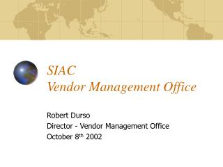 SIAC  Vendor Management Office