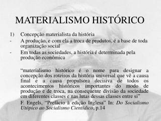 MATERIALISMO HIST RICO