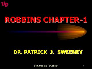 ROBBINS CHAPTER-1