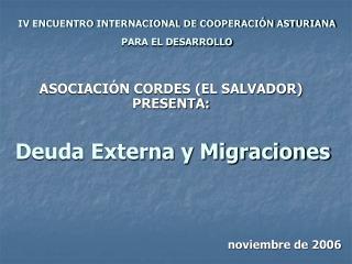 Deuda Externa y Migraciones