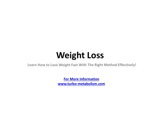 Weight Loss, How To Lose Weight Fast