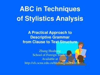 ABC in Techniques  of Stylistics Analysis