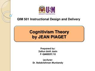 QIM 501 Instructional Design and Delivery