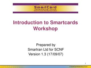 Introduction to Smartcards  Workshop