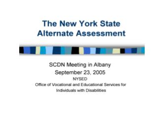 NYS Assessment System