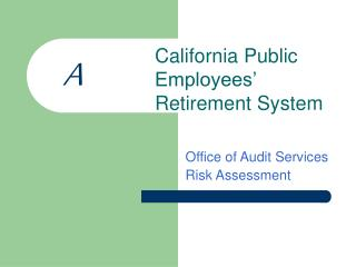 Office of Audit Services Risk Assessment