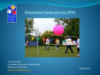 Pr vention Sant  par les APSA