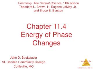 Chapter 11.4 Energy of Phase Changes