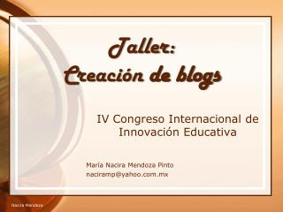 Taller: Creaci n de blogs
