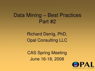 Data Mining   Best Practices Part 2