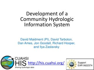 Development of a Community Hydrologic Information System