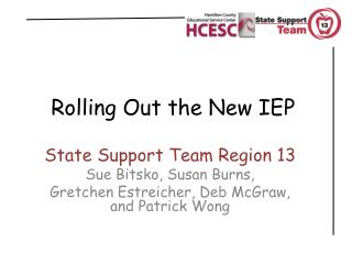 Rolling Out the New IEP