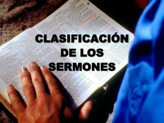 CLASIFICACI N  DE LOS SERMONES