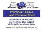 Pharmacie Clinique Soins Pharmaceutiques