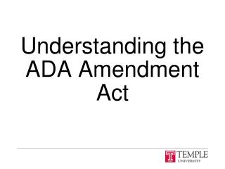 Understanding the ADA Amendment Act