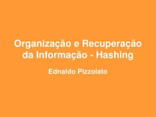Organiza  o e Recupera  o da Informa  o - Hashing