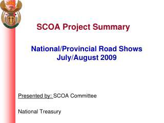 SCOA Project Summary