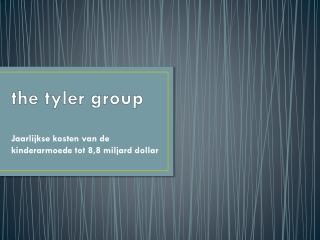 the tyler group | Jaarlijkse kosten van de kinderarmoede