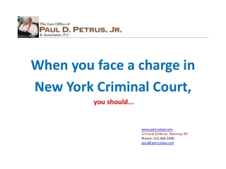 When you face criminal charge in a criminal court