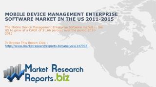 Mobile Device Management Enterprise Software Market in the U