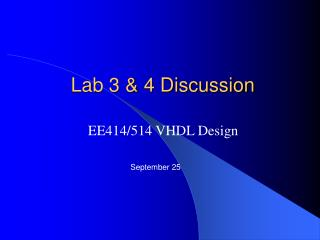 Lab 3  4 Discussion