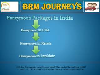 Honeymoon Packages India, Honeymoon in Goa, Kerala