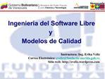 Ing del Software Libre