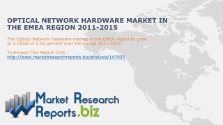 Optical Network Hardware Industry in the EMEA Region2011-15