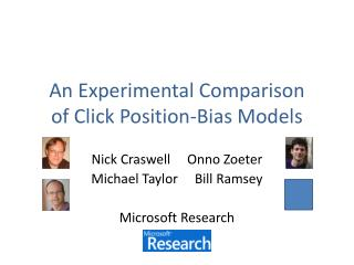 An Experimental Comparison of Click Position-Bias Models