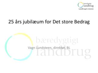 25  rs jubil um for Det store Bedrag