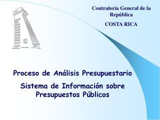 Contralor a General de la Rep blica  COSTA RICA