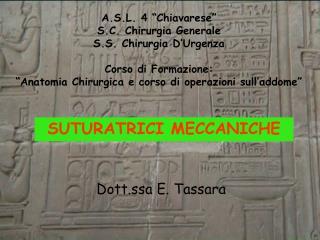 SUTURATRICI MECCANICHE