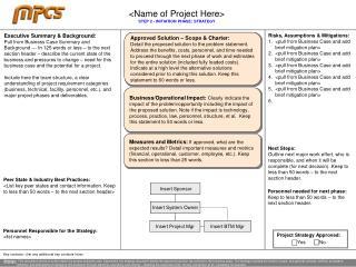 Step 2 Initiation Strategy Summary