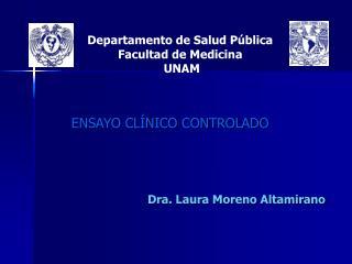 Departamento de Salud P blica  Facultad de Medicina  UNAM