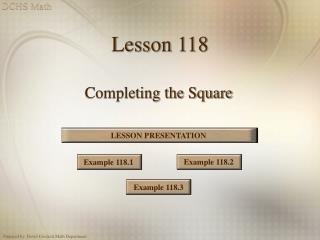 Lesson 118