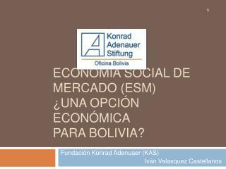 ECONOM A SOCIAL DE MERCADO ESM  UNA OPCI N ECON MICA PARA BOLIVIA