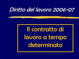 Diritto del lavoro 2006-07
