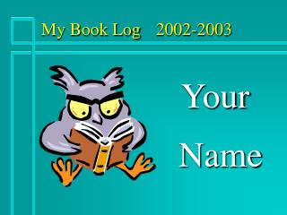 My Book Log 2002-2003