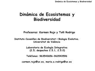Din mica de Ecosistemas y Biodiversidad