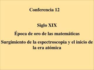Conferencia 12