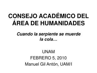 CONSEJO ACAD MICO DEL  REA DE HUMANIDADES