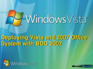 Deploying Vista and 2007 Office System with BDD 2007