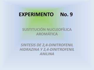 EXPERIMENTO     No. 9
