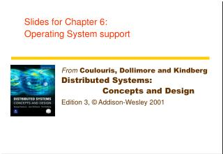 Slides for Chapter 6:  Operating System support