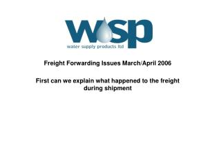 Freight Forwarding Issues March