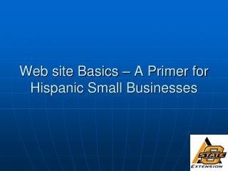 Web site Basics   A Primer for Hispanic Small Businesses