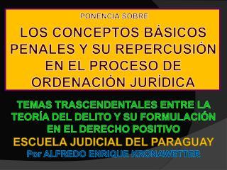 TEMAS TRASCENDENTALES ENTRE LA TEOR A DEL DELITO Y SU FORMULACI N EN EL DERECHO POSITIVO ESCUELA JUDICIAL DEL PARAGUAY P