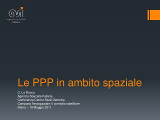 Le PPP in ambito spaziale